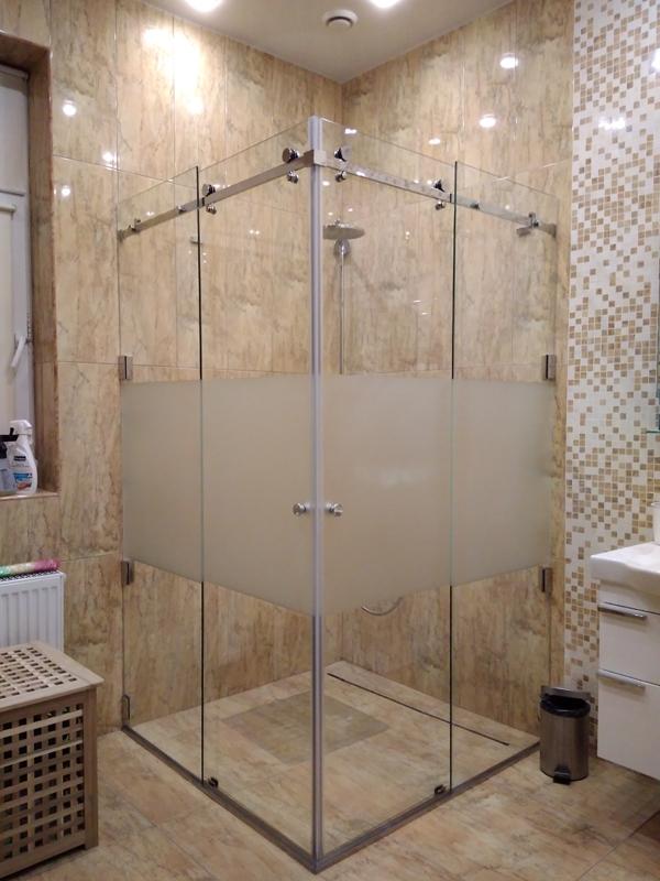 Перегородка в душ для стекла