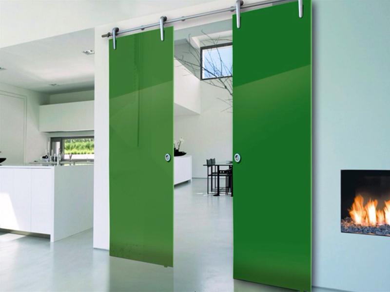 Стеклянные межкомнатные двери сдвижные
