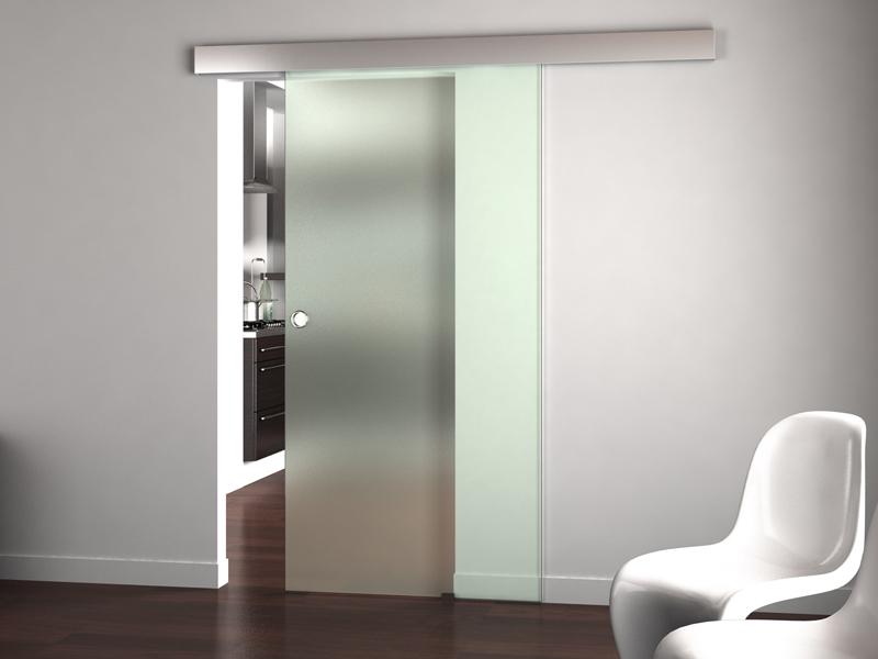 Откатные стеклянные двери